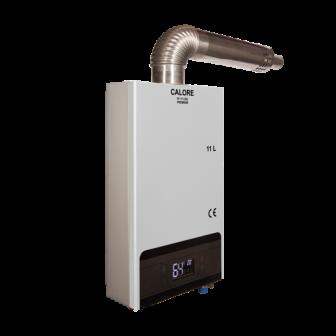 Instant pe GPL sau gaz pentru apa calda Calore TF 11 CSC Premium tiraj fortat, GRATUIT set duze GPL si GN